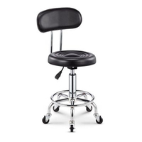 2018 Adjustable Barber Chairs Hydraulic Rolling Swivel Stool Chair Salon Spa Bar cafe Tattoo Facial Massage Salon Furniture