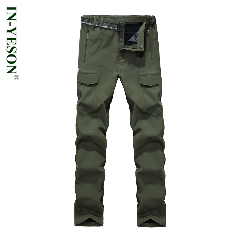 New Softshell Pants Men Elastic Waterproof Quick Drying Breathable Camping & Hiking Pants Men Outdoor Trekking Ski Trousers outdoor sport pants stitching breathable quick drying pants cycling hiking camping fishing running jogging luminous sports pants
