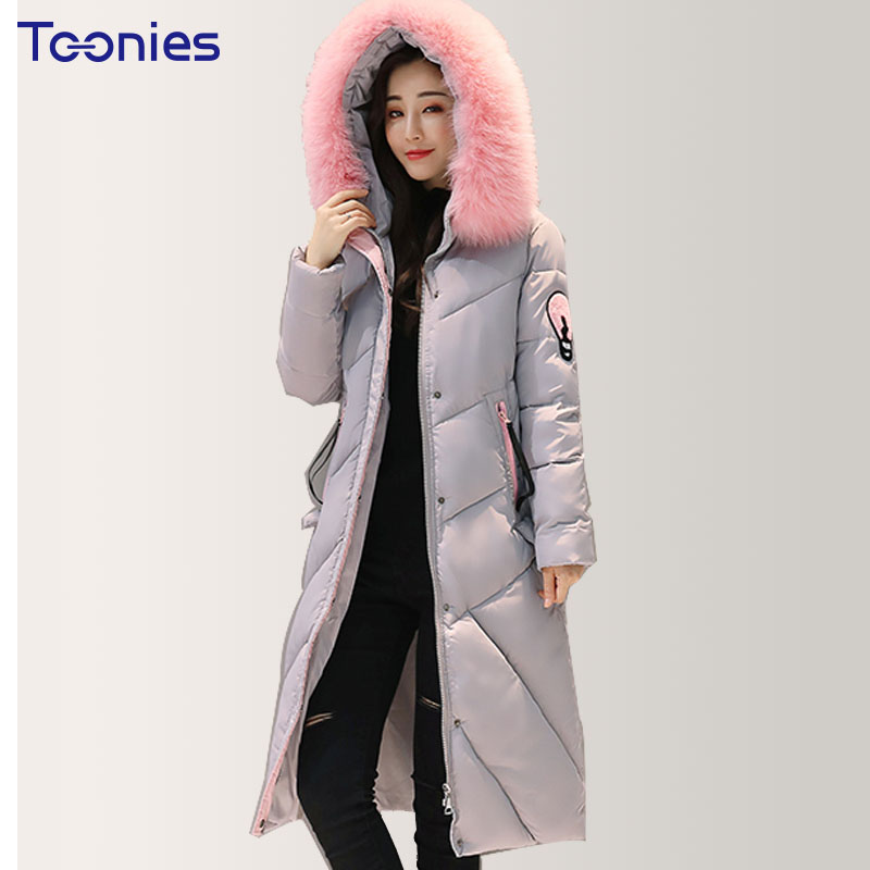Cotton Coats 2017 Winter Women Warm Thick Hooded Long Coat Jackets Outwear Overcoat Cotton Padded Fur Collar Parkas Plus Size winter jacket women nice new style parkas overcoat brand fashion hooded big size cotton padded warm long jackets and coats s2215