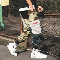 Elastic Waist Mens Cargo Pants With Many Pockets Military Uniform Tactical Pants Hip Hop Streetwear Camouflage Trousers Plus 5XL