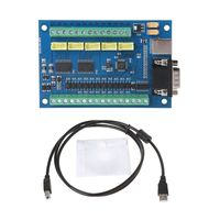 12 24V MACH3 USB 5 Axis 100KHz Smooth Stepper Motion Control Breakout Board for CNC Engraving