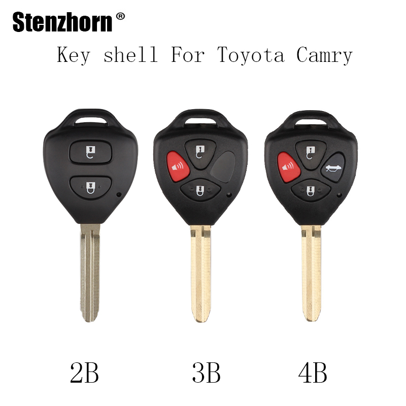 Stenzhorn 2 3 4 Buttons Car Remote key shell Fob For Toyota Camry Corolla Avalon Venza 2007 2008 2009 2010 2011 2012 key Case