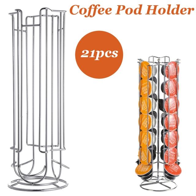 f8876ca0433a21 Renouvelable Café Pod Titulaire 21 pcs Capsules Stand Organisateur Distributeur  pour Tassimo, Nespresso, Dolce