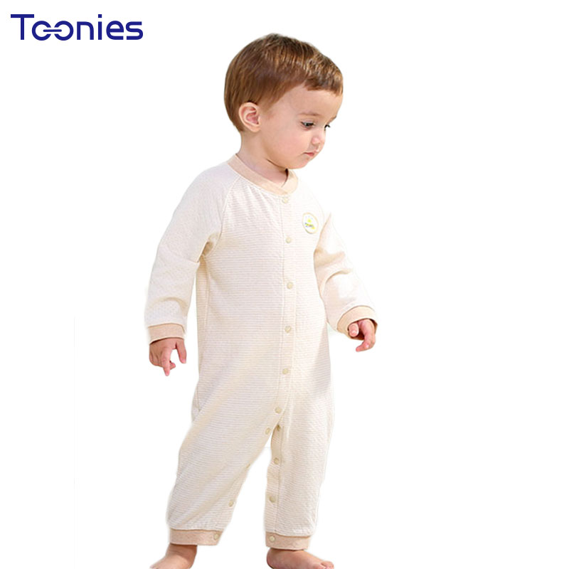 Baby Clothes Long Sleeves Newborn Rompers High Quality Cotton Toddler Pajama 2018 Spring Autumn Child Clothing Striped Jumpsuits baby climb clothing newborn boys girls warm romper spring autumn winter baby cotton knit jumpsuits 0 18m long sleeves rompers