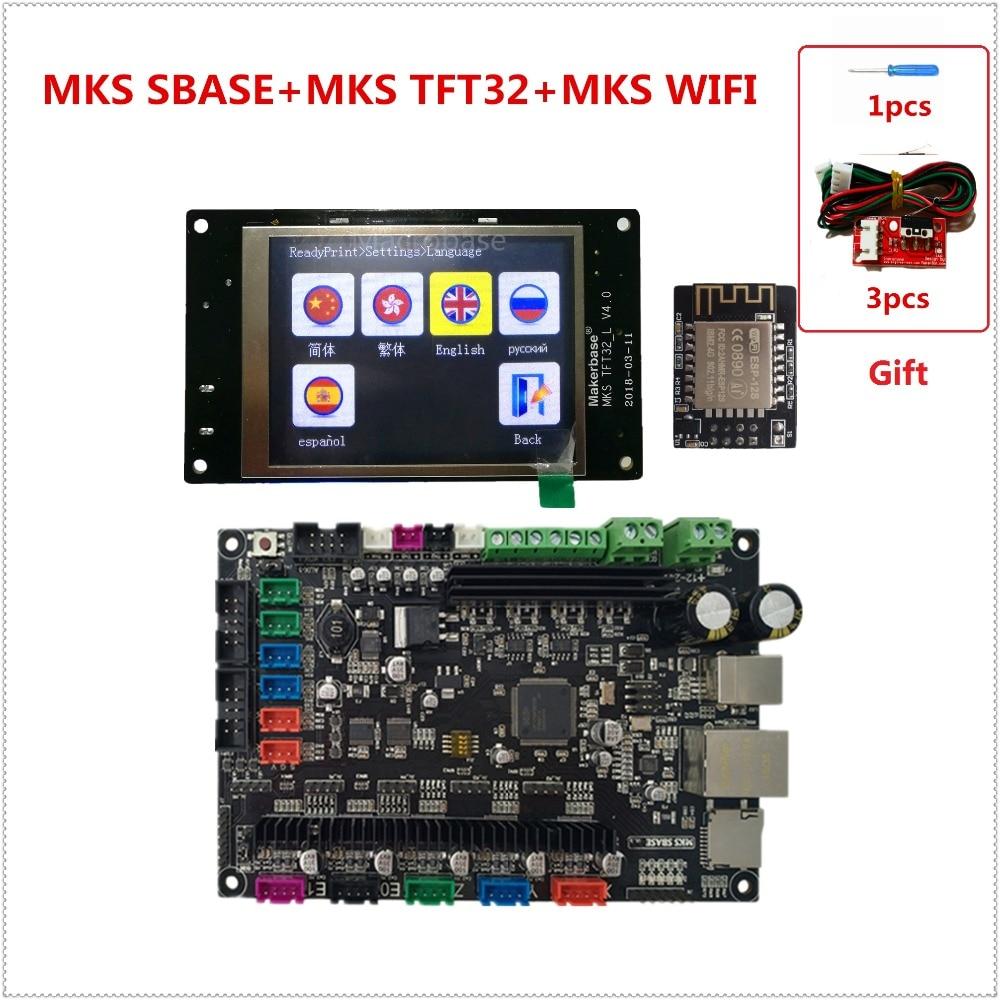 MKS SBASE + MKS TFT32 V4.0 display + MKS WIFI 3D printer controller kits integrated Microcontroller smoothieboard Smoothieware стоимость