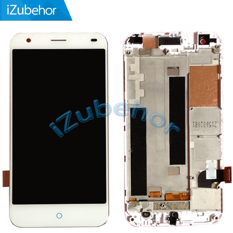 5.0 Inch Display Screen For ZTE Blade S6 LCD+ Touch Screen Digitizer Assembly+Frame White Free Shipping;100% Tested