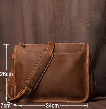 Laptop Männer Messenger kaffee Männlichen Casual Aus Echtem brown Leder Handtaschen Tasche Aktentaschen Für Schulter Umhängetaschen Mann Schwarzes Gumst schokolade FPEqpF