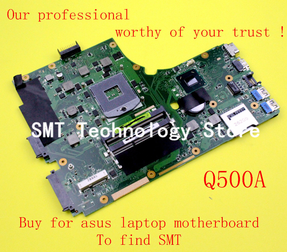 For Asus Q500A Main Board Q500A motherboard HM77 integrated 60-NTGMB1000-B010 DDR3 REV:2.1 100% fully tested asus g31 motherboard g31tlm g31tlm2 fully integrated g31tm v1 0 lot