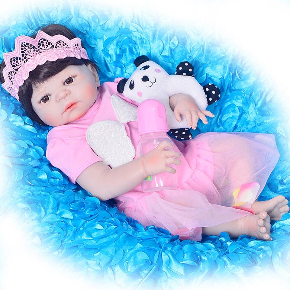 2017 Nuovo Collettiva Bambole del bambino Rinato Giocattolo 23 ''Principessa Della Ragazza bebe infantile Realistica Realistica Neonati Doll Brinquedos come di Natale regali
