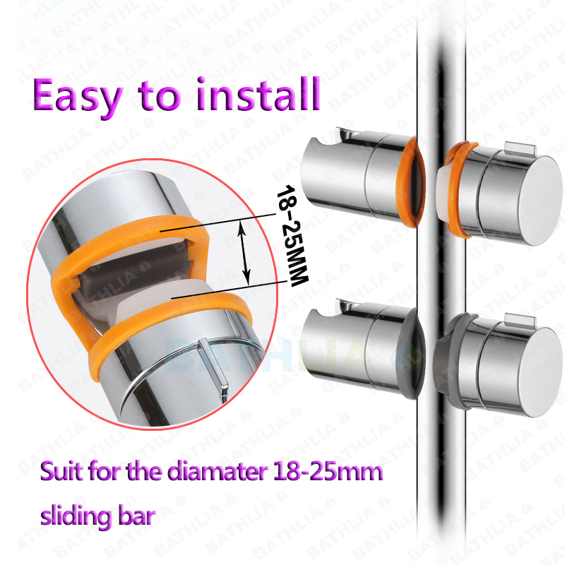 Slider Showerhead Holder Shower head bracket Adjustable Shower Head ...