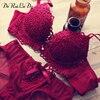 Female Underwear Underwear Vs Women Bra Set Sexy Satin Luxury Lingerie Suit Women Intimates Embroidery Push