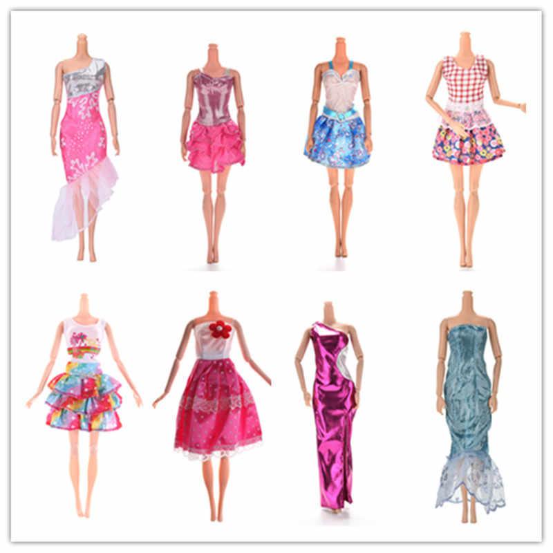 11.11 venda artesanal vestido festa de casamento vestir multi estilos saia roupas para boneca acessórios presente