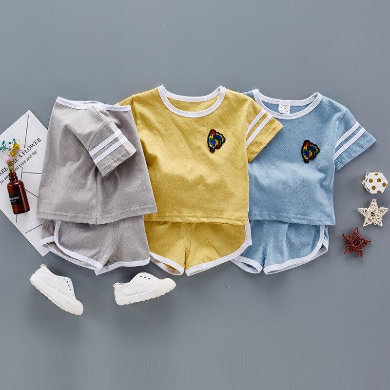 2017 Cartoon Summer Baby girl Clothing Set T shirt Top