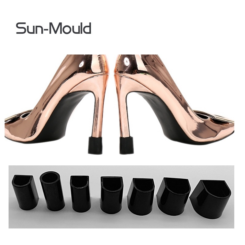 7 Pairs Black High Heel Protectors Latin Stiletto Dancing Covers Heel Stoppers Antislip Silicone High Heeler For Wedding Favor
