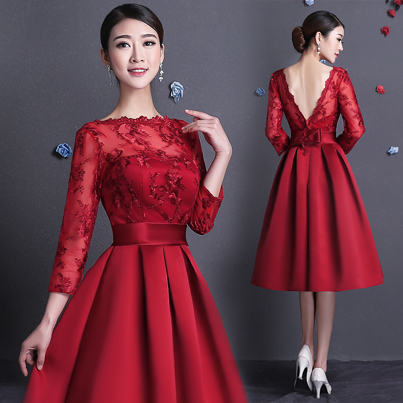 Элегантные короткие вечерние платья