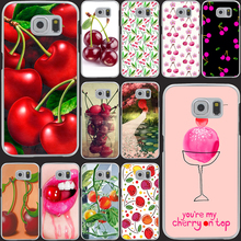 534M Green cherry fruit of food animation Hrad Style Case Cover for Samsung Galaxy S5 S4