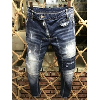 Hip hop Men Biker Jeans Pants Slim Fit Brand Designer Motocycle Denim Trousers For Male Straight Washed skinny jeans more style