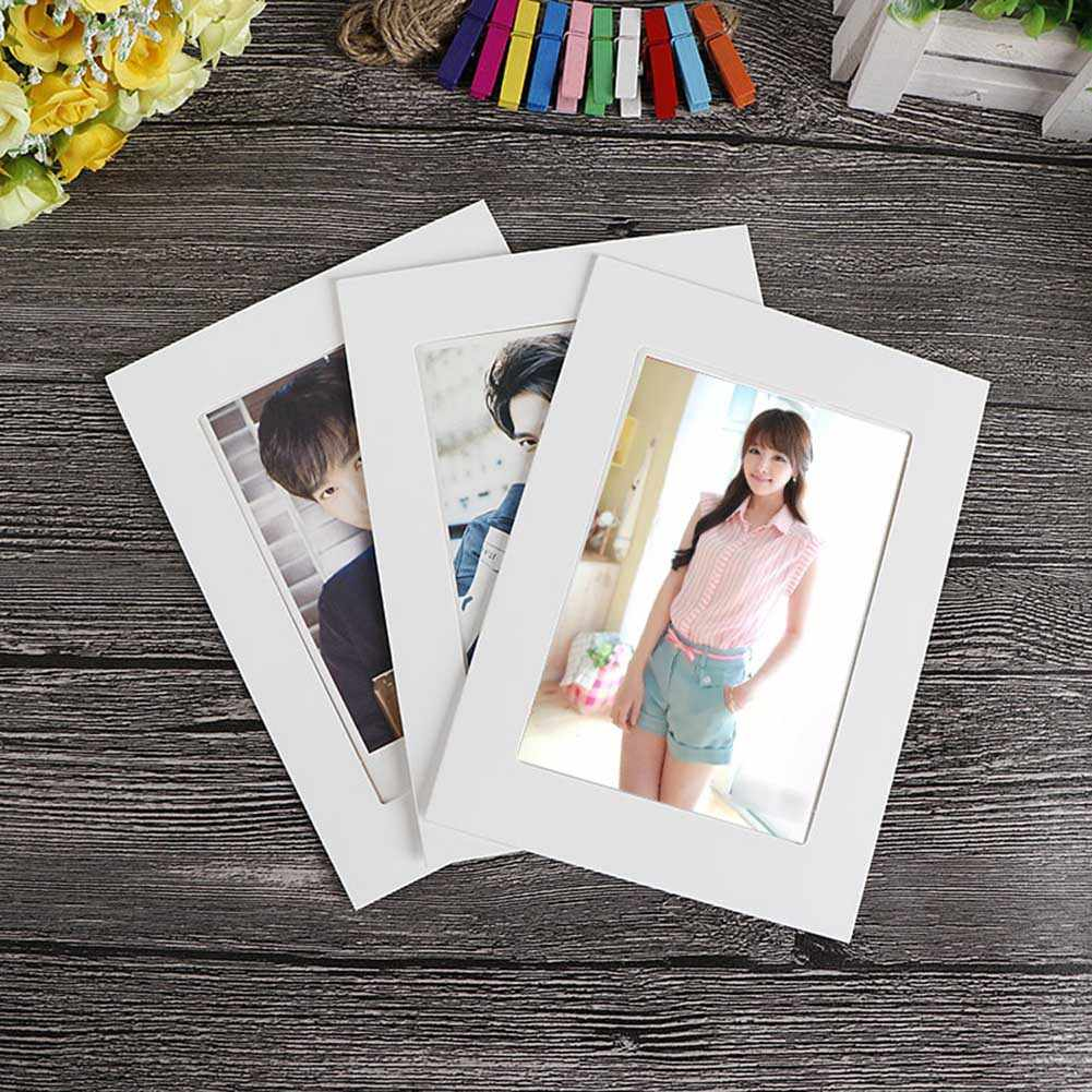 10pcs Photo Frame DIY 3 5 6 7 Inch Kraft Paper Hanging Wall Picture Album Decoration For Home QP2