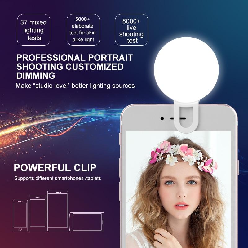 Univerzalna LED lučka Selfie RK17 LED lučka za polnjenje 9 kosov - Kamera in foto - Fotografija 2