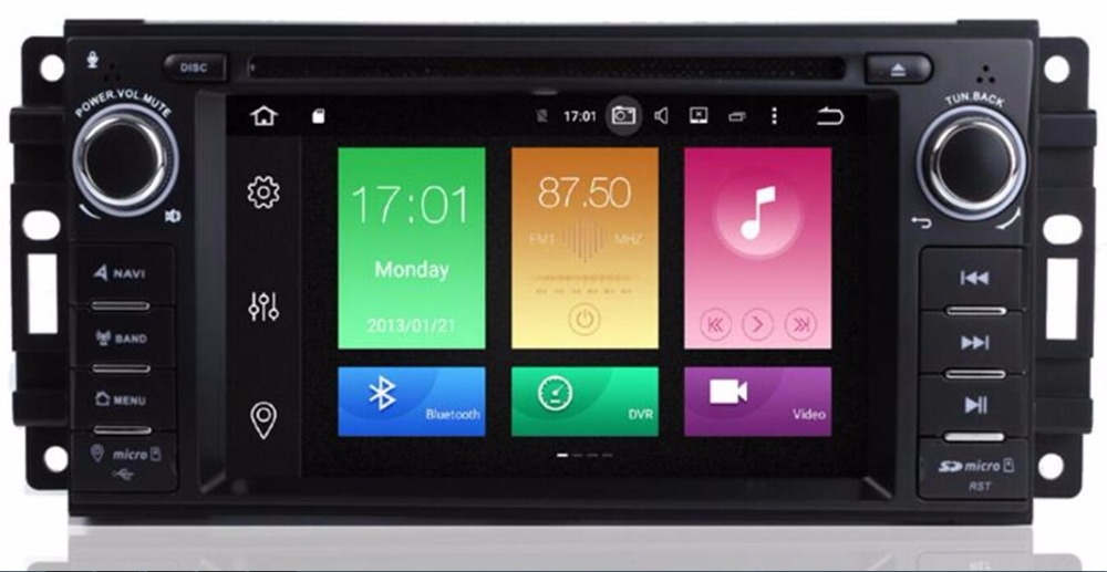 2 din Auto Radio Android 8.0 Car DVD Player For <font><b>Chrysler</b></font> <font><b>300c</b></font> jeep Compass/Dodge/RAM/Grand Cherokee Wrangle GPS Navi Head Unit image