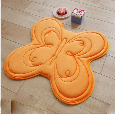 Butterfly Shaped Decorative Rugs Anti Skid Bathroom Mat Livingroom Bedside  Mats Alfombras Rugs And Carpets