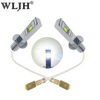 WLJH 2pcs White 80W H1 LED Light Truck Car Lights External Lights Fog Driving Lamp Bulbs