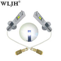 WLJH 2pcs White 80W H1 LED Light Truck Car Lights External Lights Fog Driving Lamp Bulbs