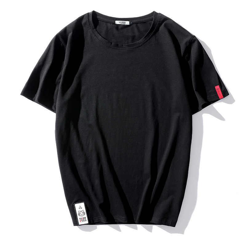 L'été 2018 Marque de Mode Tshirt Hommes Solide À Manches Courtes LÂCHE T-shirt décontracté T-Shirts top T-shirts HIP HOP