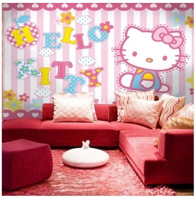 ... Mural Cartoon Child Real Background 3D Wallpaper Mural Hellokitty Girl  Male Wall Murals For Living Room ... Part 92