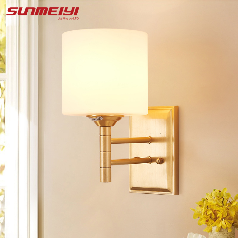 Modern E27 LED Wall Lamps Glass Shade For Living Room mirror light lamparas de pared dormitorio Sconce Wall Light Fixtures american art creative retro vintage pendant lights spring iron hanging pendant lamp indoor iron black pendant lamp light