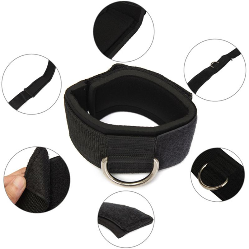Hot D-ring Ankle Anchor Strap Belt Multi Gym Cable Attachment Thigh Leg Pulley Strap Lifting Fitness Exercise Training Equipment