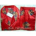 Бесплатная поставка Китайских людей Silk Район 2 шт. Ночное Одеяние пижамы пижамы Наборы Ванна Платье L XL XXL SH008