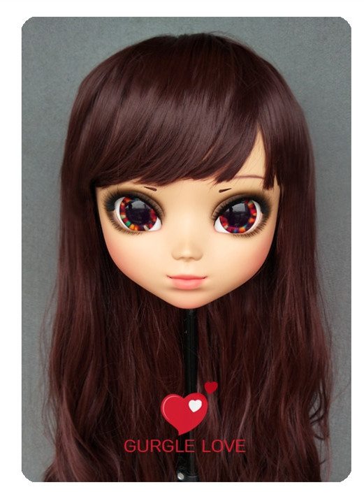 Novelty & Special Use Lovely Sweet Girl Resin Half Head Kigurumi Mask With Bjd Eyes Cosplay Japanese Anime Role Lolita Mask Crossdress Doll 100% Guarantee dm172 Kids Costumes & Accessories