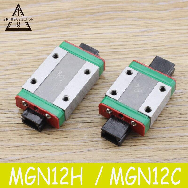 3D drucker teile MGN12H/MGN12C linear bearing schiebetüren spiel verwendung mit MGN12 linearführung für cnc xyz diy 1 stücke