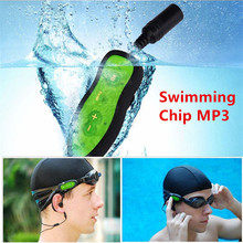 8GB Swim MP3 Player Waterproof Music Media Players IPX8 Swimming Diving Water Chip Sport MP3 Player With Earphone USB