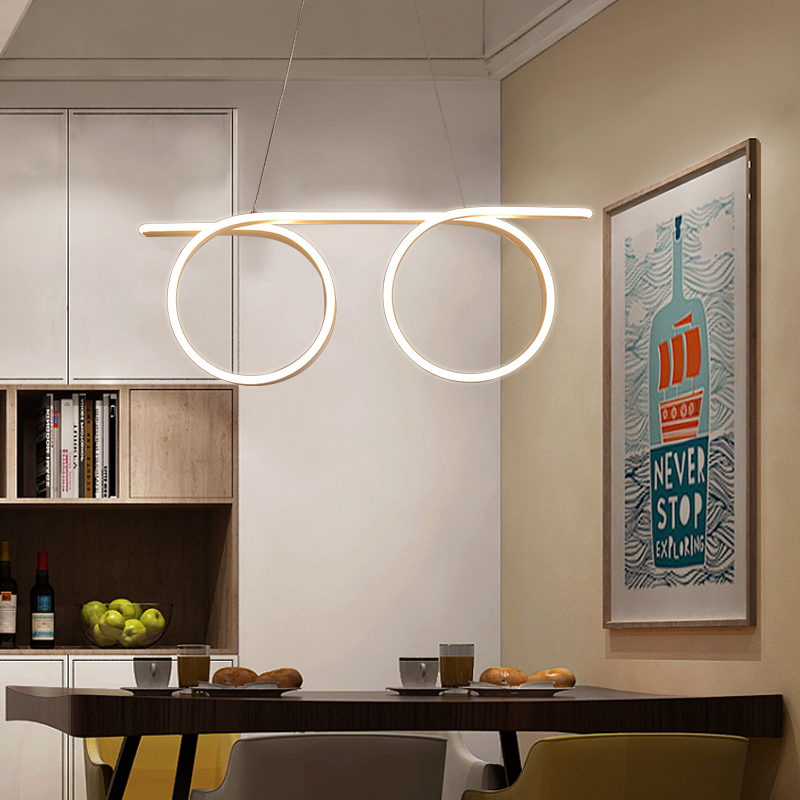 New Free Shipping AC85 265V Dining Room Bar Shop Deco Modern Led Chandelier White Color suspension luminaire Hanging Chandelier