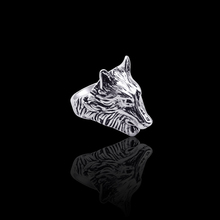 New Retro Domineering Men's Ring Personality Animal Wolf Head Creative Ring Men And Women Nightclub Alloy Jewelry Dropshipping chic wolf head shape ring for men