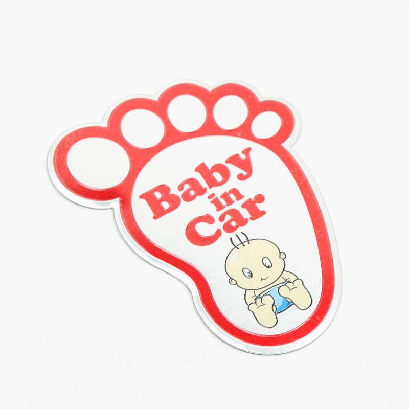 1pcs New 3D Aluminum Baby in car stickers For ford focus cruze kia rio skoda octavia mazda opel vw audi bmw lada car accessories