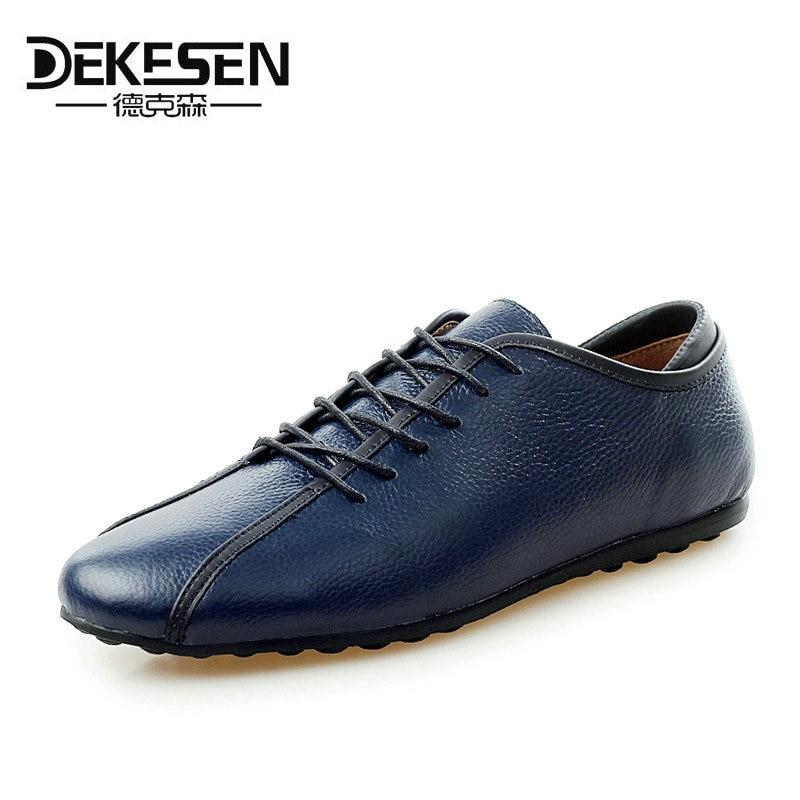 DEKESEN 2017 Nuevos Zapatos de Cuero Nobuck Hombres Zapatos Casuales Masculinas