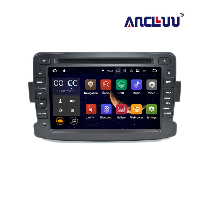 1 din Car DVD Radio Player GPS Navigation for Renault Duster dacia Dokker Lada Xray Android 7.1 with 2G RAM built in wifi