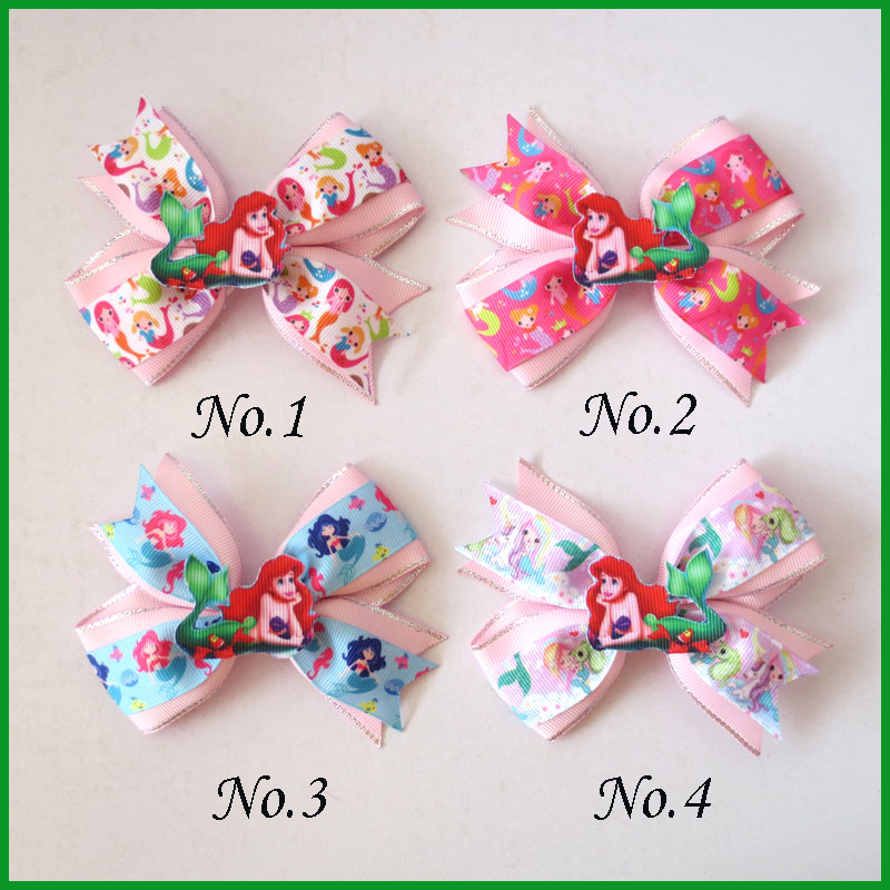 "50 BLESSING Good Girl Boutique 4.5/"" Princess Hair Bow Clip Rainbow Unicorn"