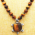 "FREE SHIPPING>>>@@> NEW Beautiful 10mm African Roar Tiger's Eye Turtle Pendant Necklace 18 ""AAA -Bride jewelry free shipping"