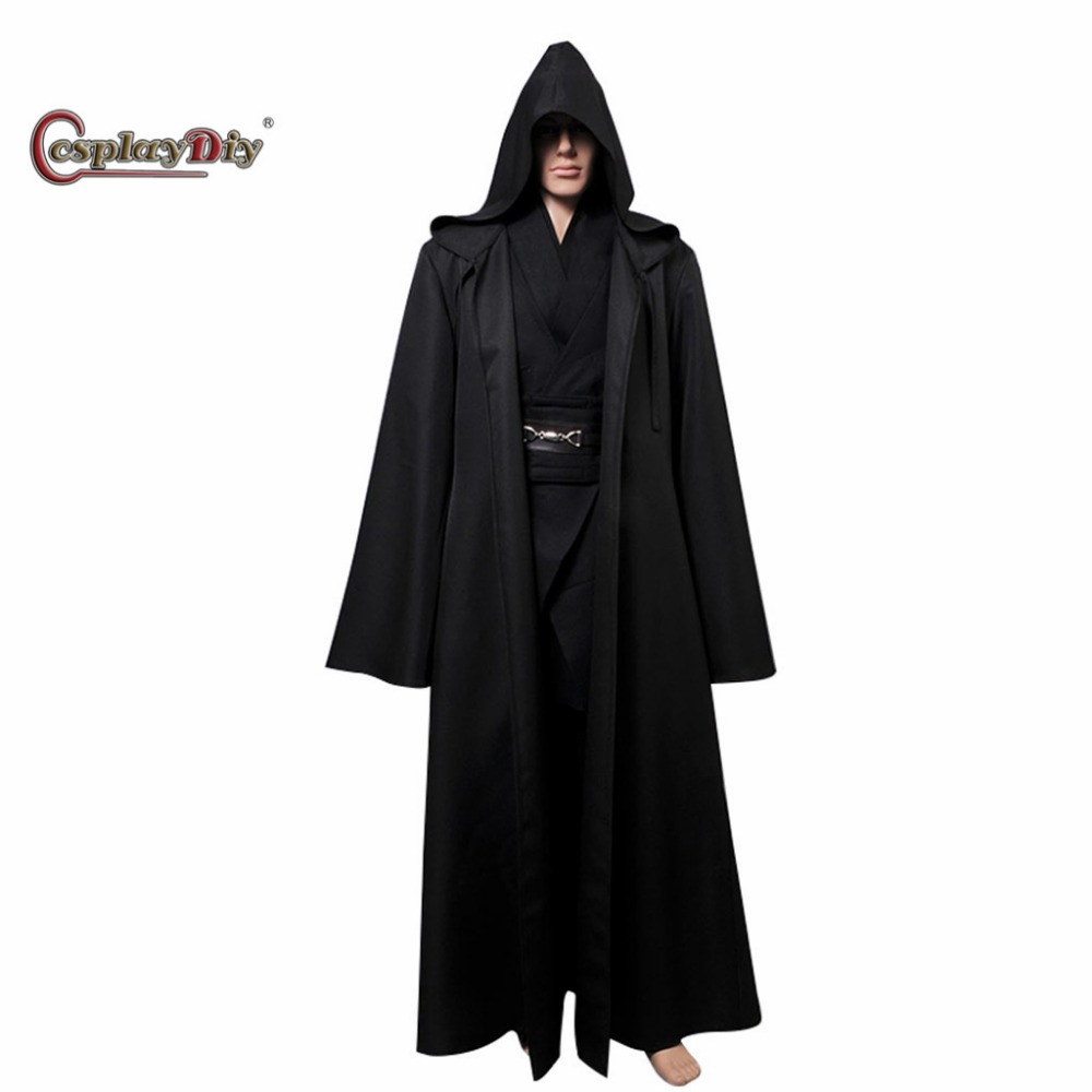 Cosplaydiy Star Wars Anakin Skywalker Cosplay Costume Black Version Adult Men Halloween Carnival Clothes Custom Made