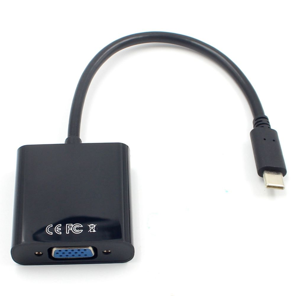 USB3.1 Тип C к VGA Кабель-адаптер USB-C мужчин и женщин VGA видео передачи конвертер 1080P для Macbook 12 дюймов