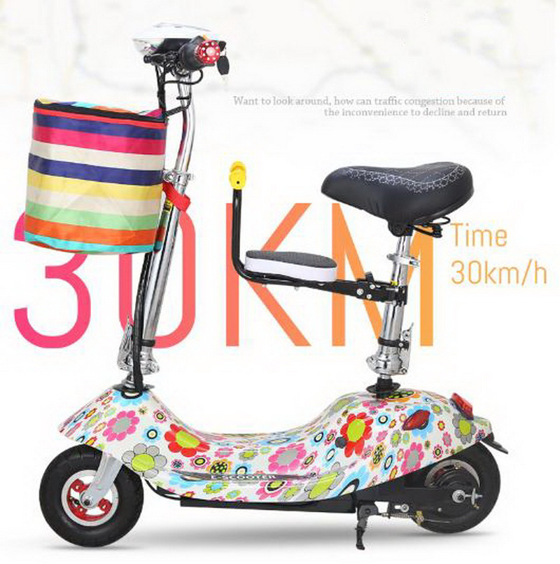 Best 261025/Ladies mini folding car bicycle scooter adult student portable two rounds/Scrub pedal 30-50km/h velo electrique 6
