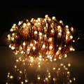 Solar Powered 30M 300Leds 99FT Outdoor Copper Wires String Lights Solar Light Bouquet Decororation Lamps Luce Solare