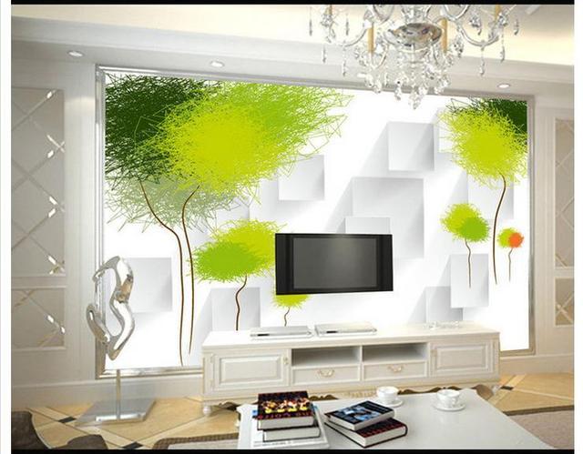 Customized 3D wallpaper 3d wall murals 3 d abstract tree