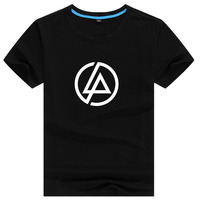 Linkin Park Mens Letter Print T Shirt Swag Skateboard Street Hip Hop Male Printed Tshirt Man