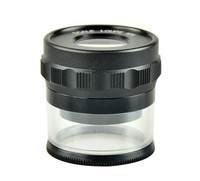 New 10 Times Pocket Metal Shell Jewellery Magnifier Loupe Magnifying Glass with + Cross Scale for Jewelers and Horologists