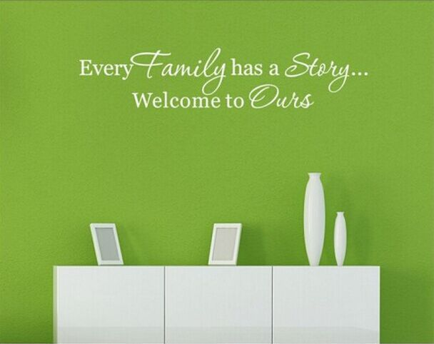 Aliexpress Com Buy Wall Decals Quotes Every Family Has A Story Vinyl Wall Quotes Wall Stickers